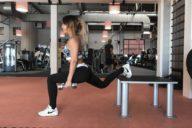 de voordelen van krachttraining voor vrouwen tips cynthia houben bulgarian split squat