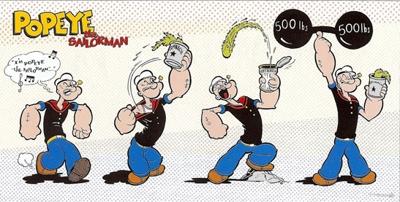Popeye spinazie