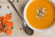 pompoen soep met wortel mamasuperdun
