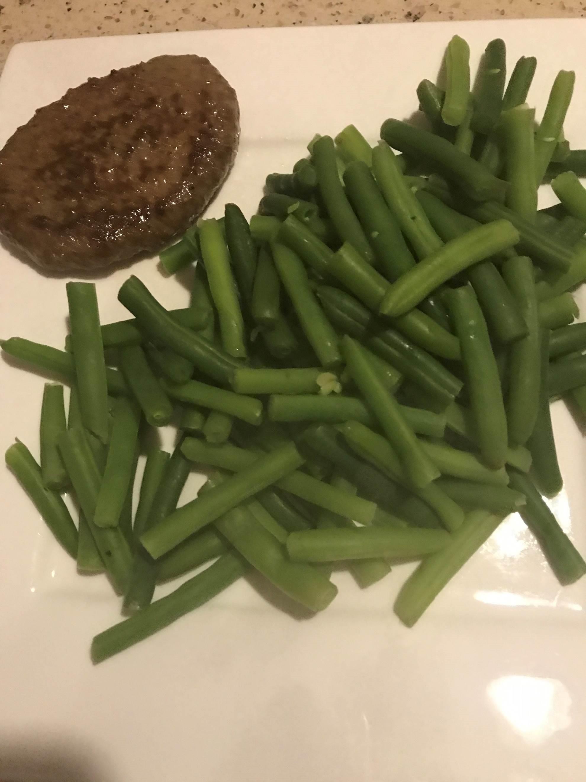 Het eetdagboekje van Sharon klant online coaching gymjunkie lifestyle plan succesverhaal sperzienbonen hamburger
