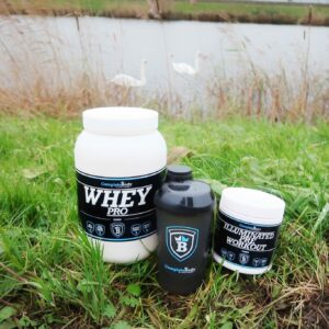 complete body, pre workout, whey