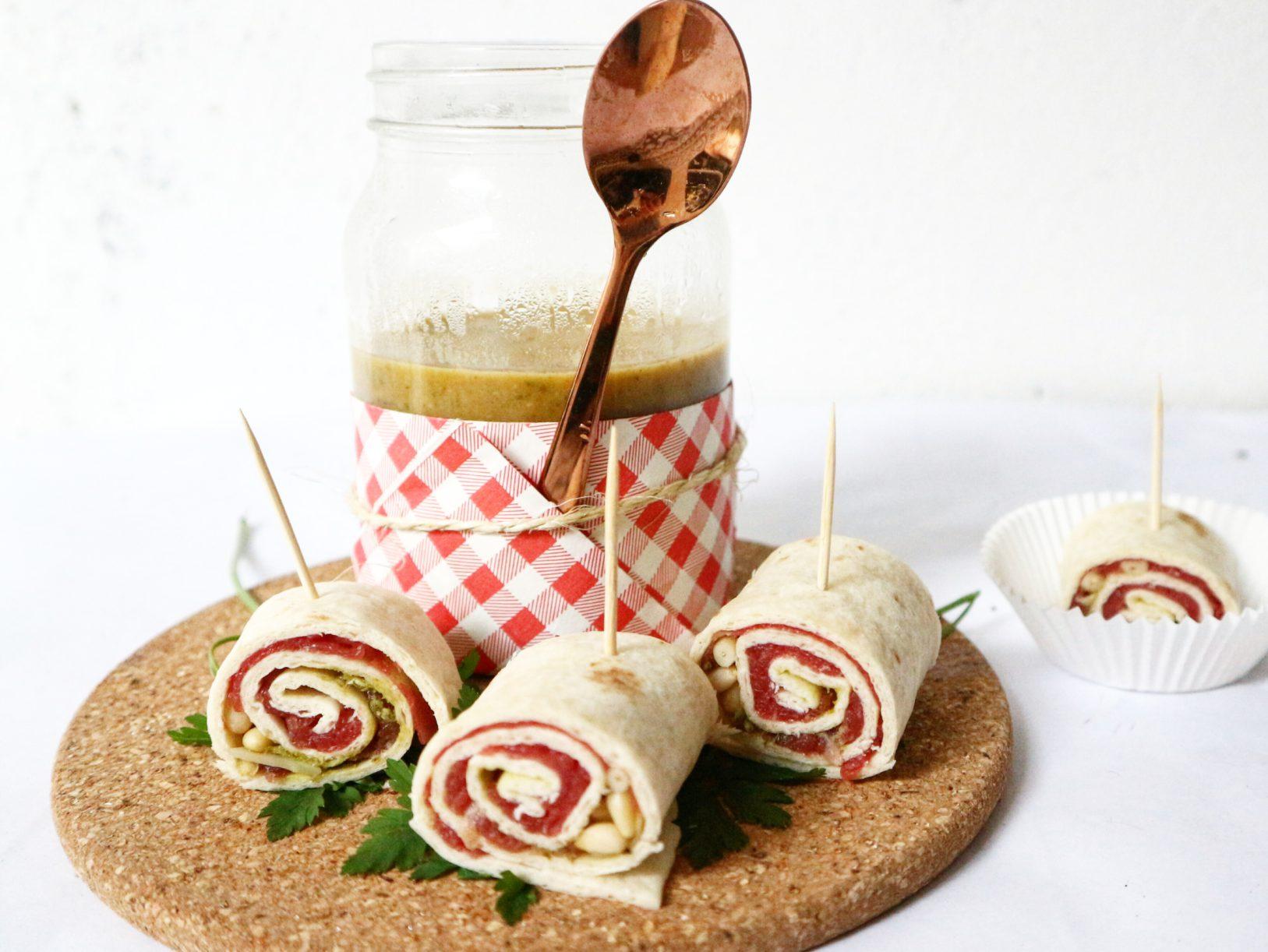 curry soepje met carpaccio wraps voorgerecht recept gymjunkies kerstmenu 2018 nicole gabriel