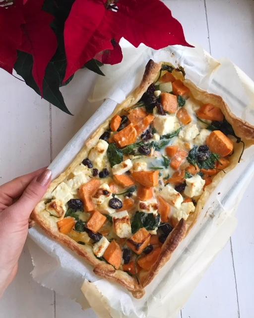 vegetarische zoete aardappel taart thalita martens recept gymjunkies kerstmenu 2018