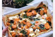 vegetarische zoete aardappel plaattaart thalita martens recept gymjunkies kerstmenu 2018