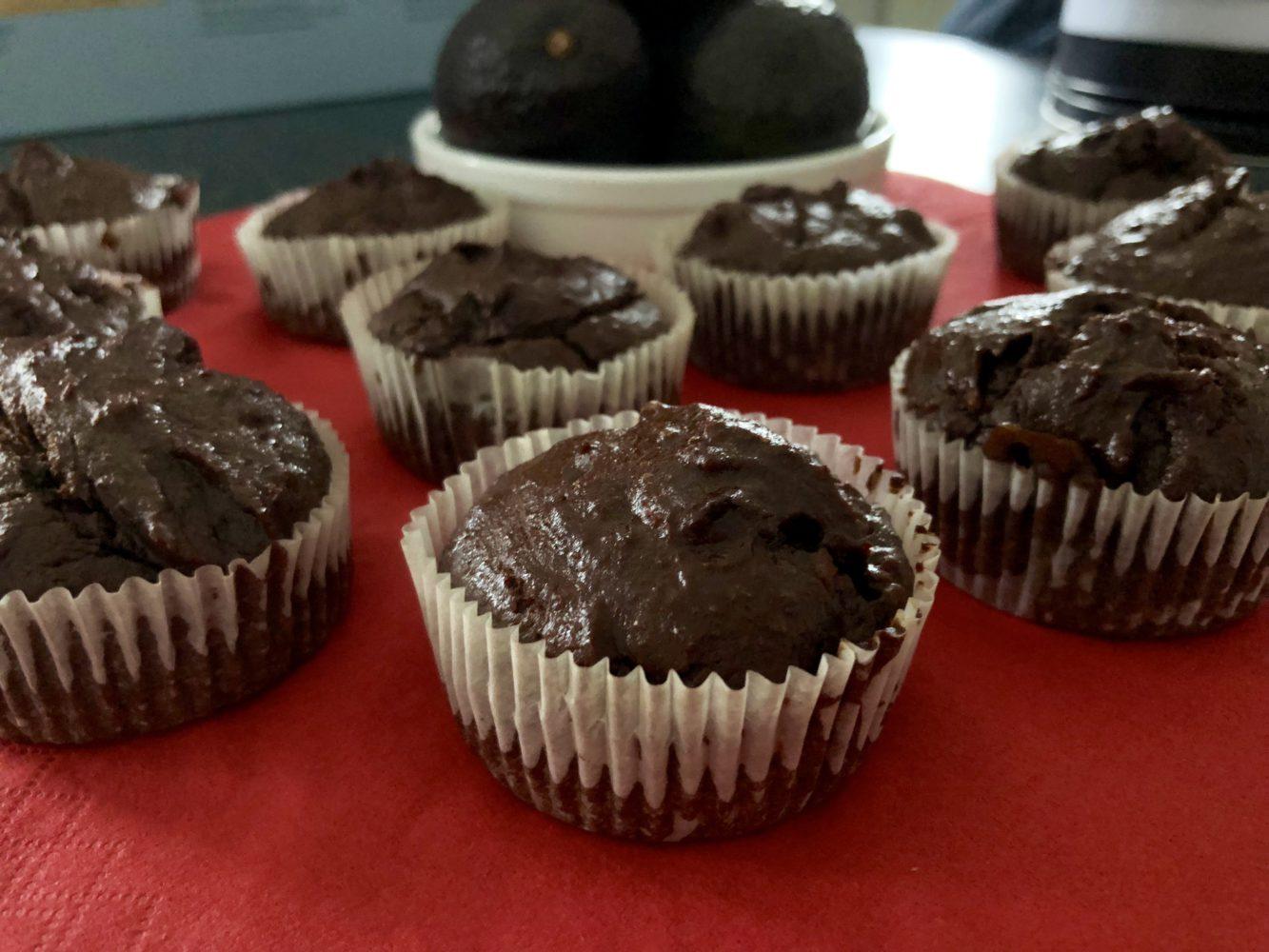 chocolade cupcakes avocado vegan snack recept