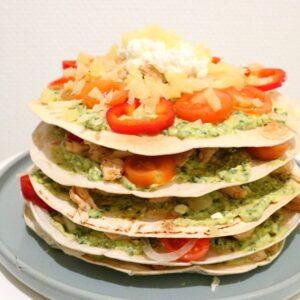 Burrito taart, burrito, gezonde recepten, recepten afvallen, gymjunkies