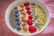 pindakaas perzik yoghurt eiwitrijke smoothie recepten