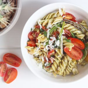 pasta pesto salade recept