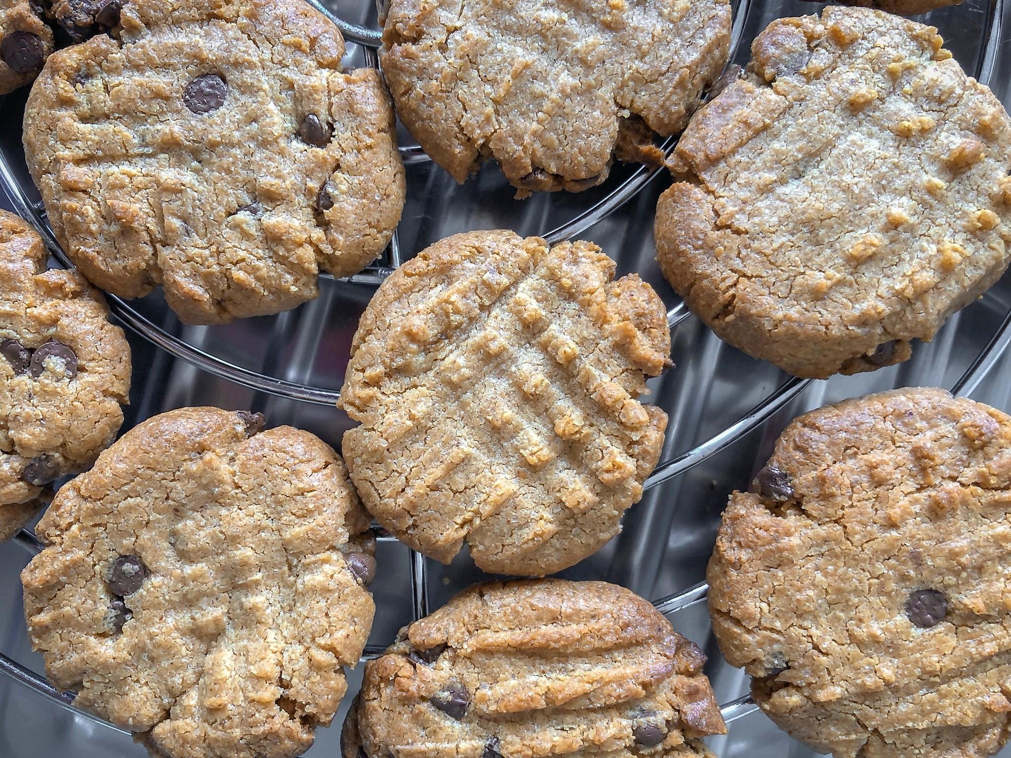 zoete zonde pindakaas chocolade gezond koek recept