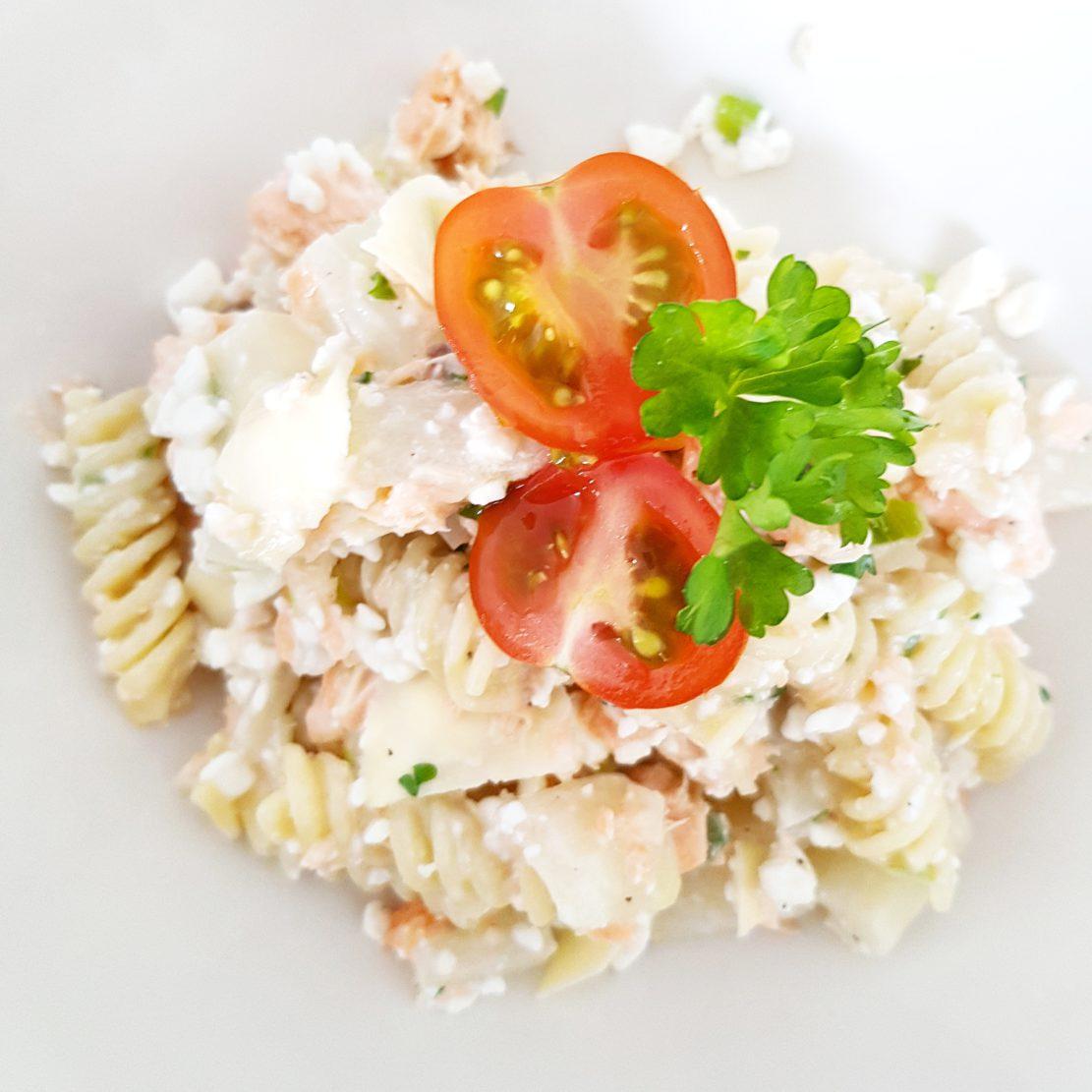 recept romige volkoren pasta zalm asperge