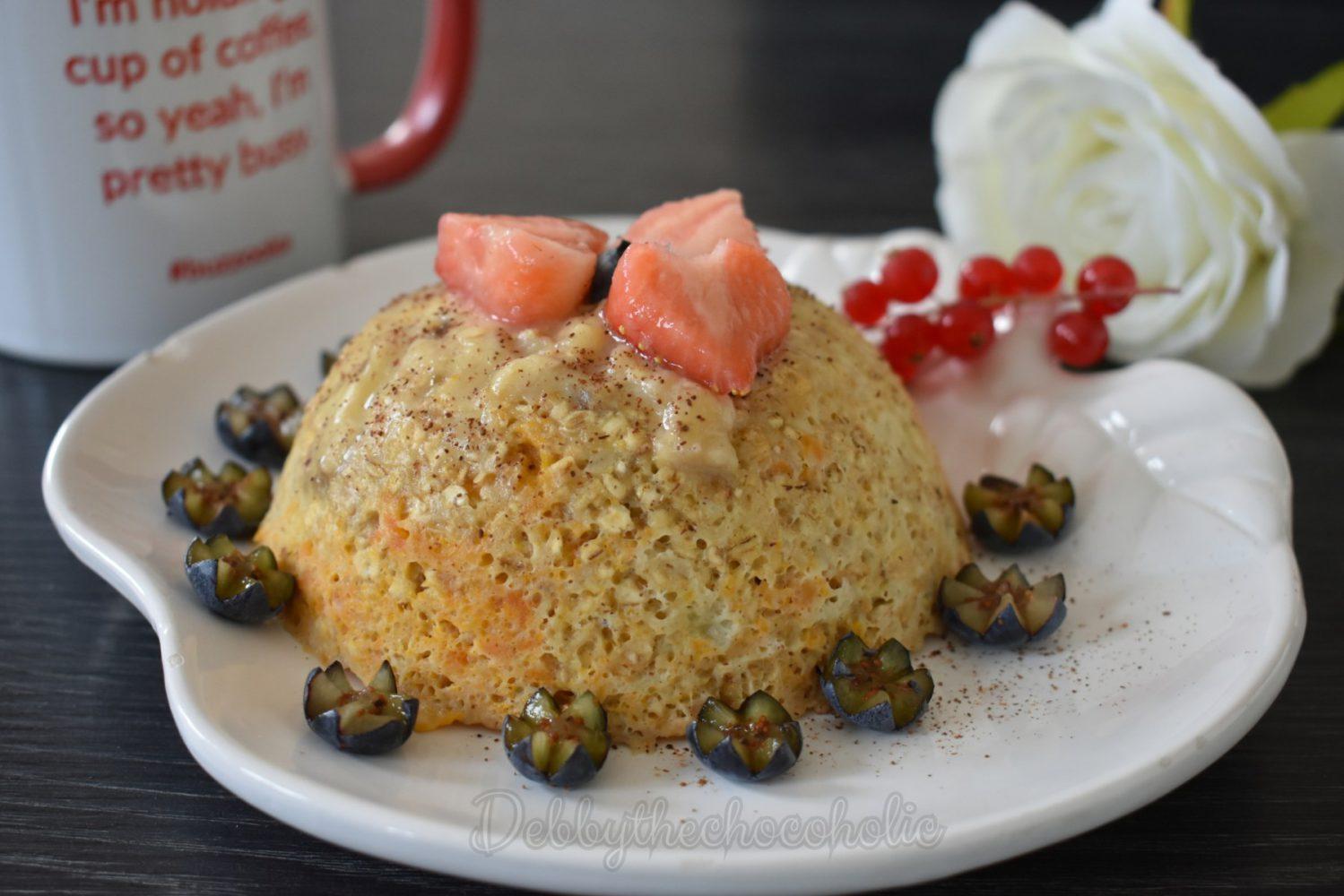 mugcake recept zoete aardappel wortel puree