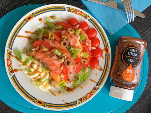 zomerse salade callowfit saus recept