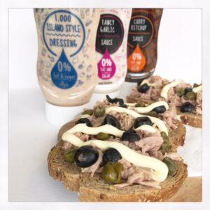 Toast met tonijn callowfit saus recept