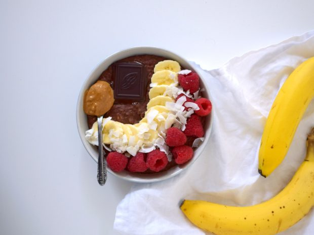 eiwitrijk recept chocolade havermout