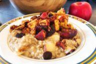 appeltaart havermout, appeltaart oatmeal, gezond ontbijt, havermout recept, gymjunkies