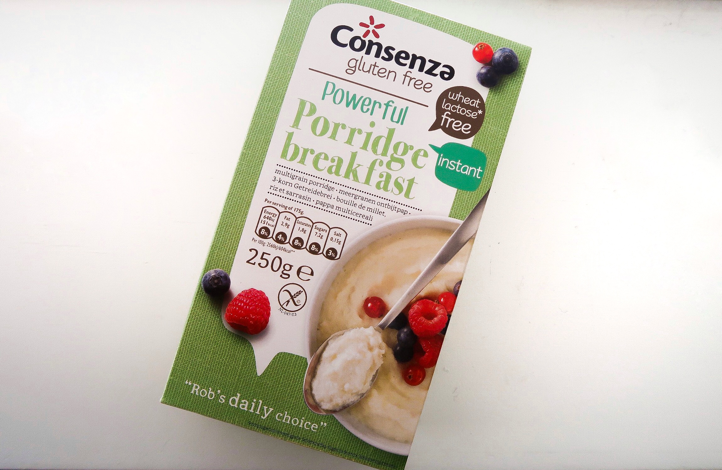 gezonde producten, product tips, gezonde voeding, afvallen, vet verliezen, gymjunkie lifestyle plan, gezond afvallen, ontbijtpap