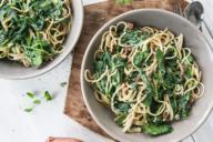 pasta andijvie recept met feta en tomaten